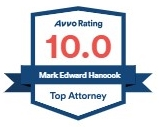 Avvo Top Attorney Badge. 8.2 Score. - Mark Edward Hancock